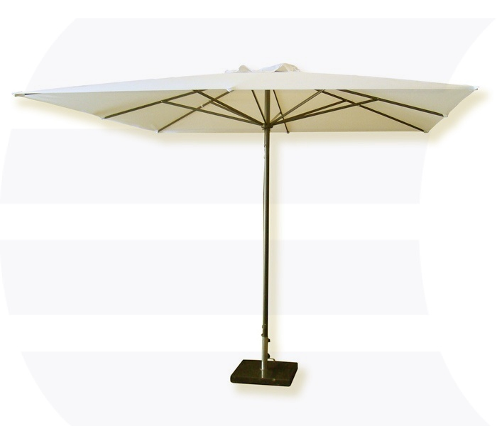 Horeca Parasol Ecru 3m - inclusief voet huren