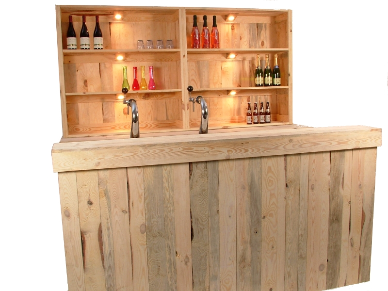Luxe bar wood 1,7m huren