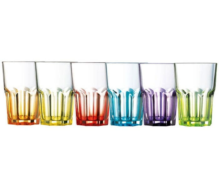 Bierglas Color gemengd - set van 6 huren